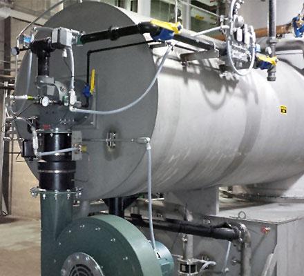 Heated industrial water tank